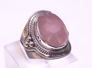 rose quartz ring ref: qro03203