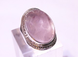 rose quartz ring ref: qro04202