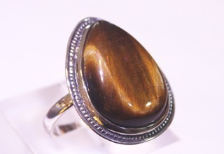 tiger eye ring ref: ojt012212