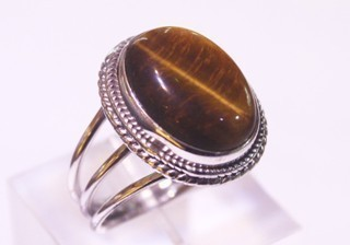 tiger eye ring ref: ojt012616