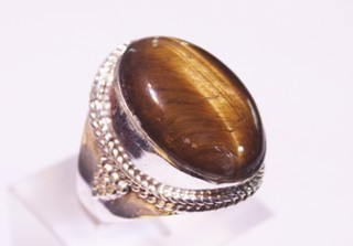 tiger eye ring ref: ojt014218