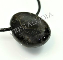 Astrophilite Pendant Round Oval With Hole