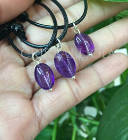 Amethyst Thumbles Stoned Pendant 00