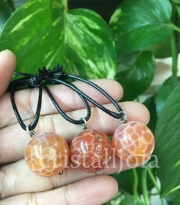 Agate Fire Pendant Ball
