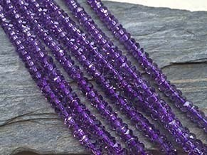 Amethyst 6x3mm Faceted Disc Beads