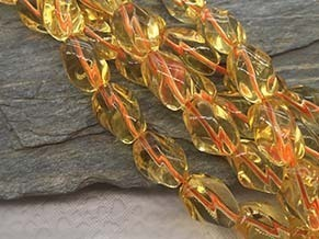 Citrine 14x8mm Nugget Beads String