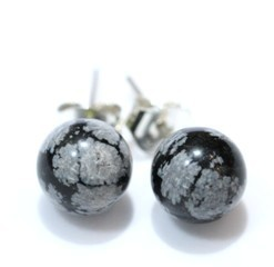 Obsidiana Nevada Pendents Bola 8 Mm