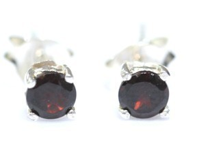 Garnet  Faceted Earrings 01