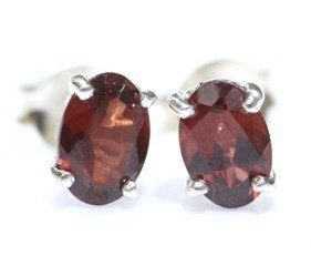 Garnet Faceted Earrings 02