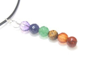 Chakras 6mm Faceted Ball Pendant