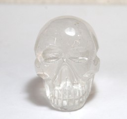 Quartz Crystal Rock Large Skull 01