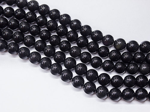 Iridescent (Rainbow) Obsidian Beads 10 mm Balls