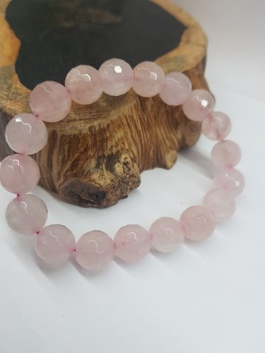 Rose Quartz Bracelet 10mm Round Beads