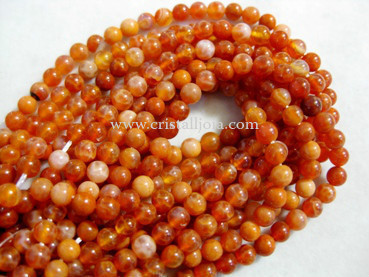 fire agate 4mm ball beads strands