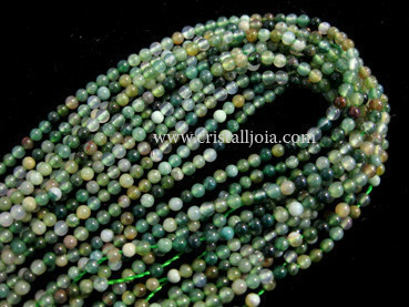 moss agate 2mm ball beads strands