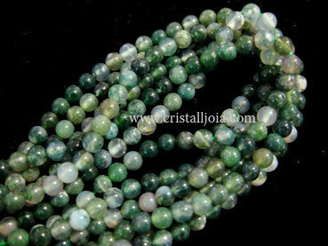 moss agate 4mm ball beads strands