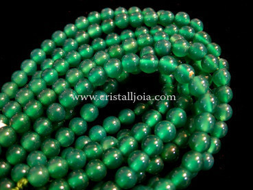 green agate 6mm ball beads strands