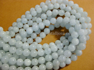 aquamarine 6mm ball beads strands