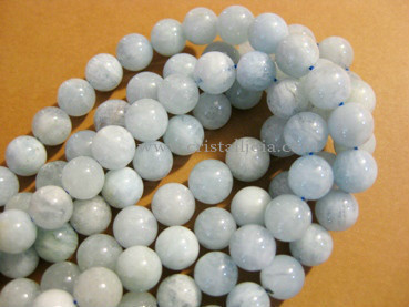 aquamarine 8mm ball beads strands