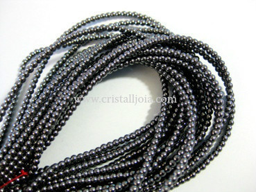 hematite 2mm ball beads strands