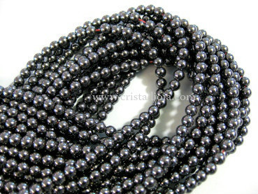 hematite 4mm ball beads strands