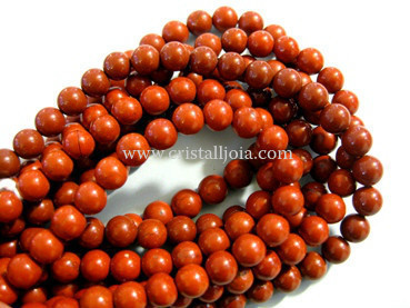 red jasper 6mm ball beads strands