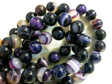 Lilac listed agate 10mm ball beads strands
