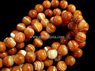 red striped agate 10mm ball beads strands