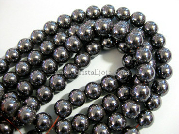 hematite 10mm ball beads strands