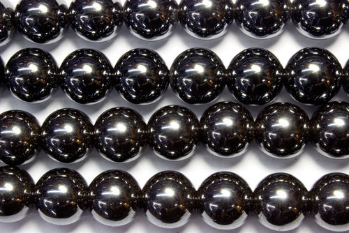 hematite 12mm ball beads strands