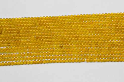 yellow agate 2mm ball beads strands