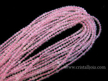 quars rosa fil boles 2mm