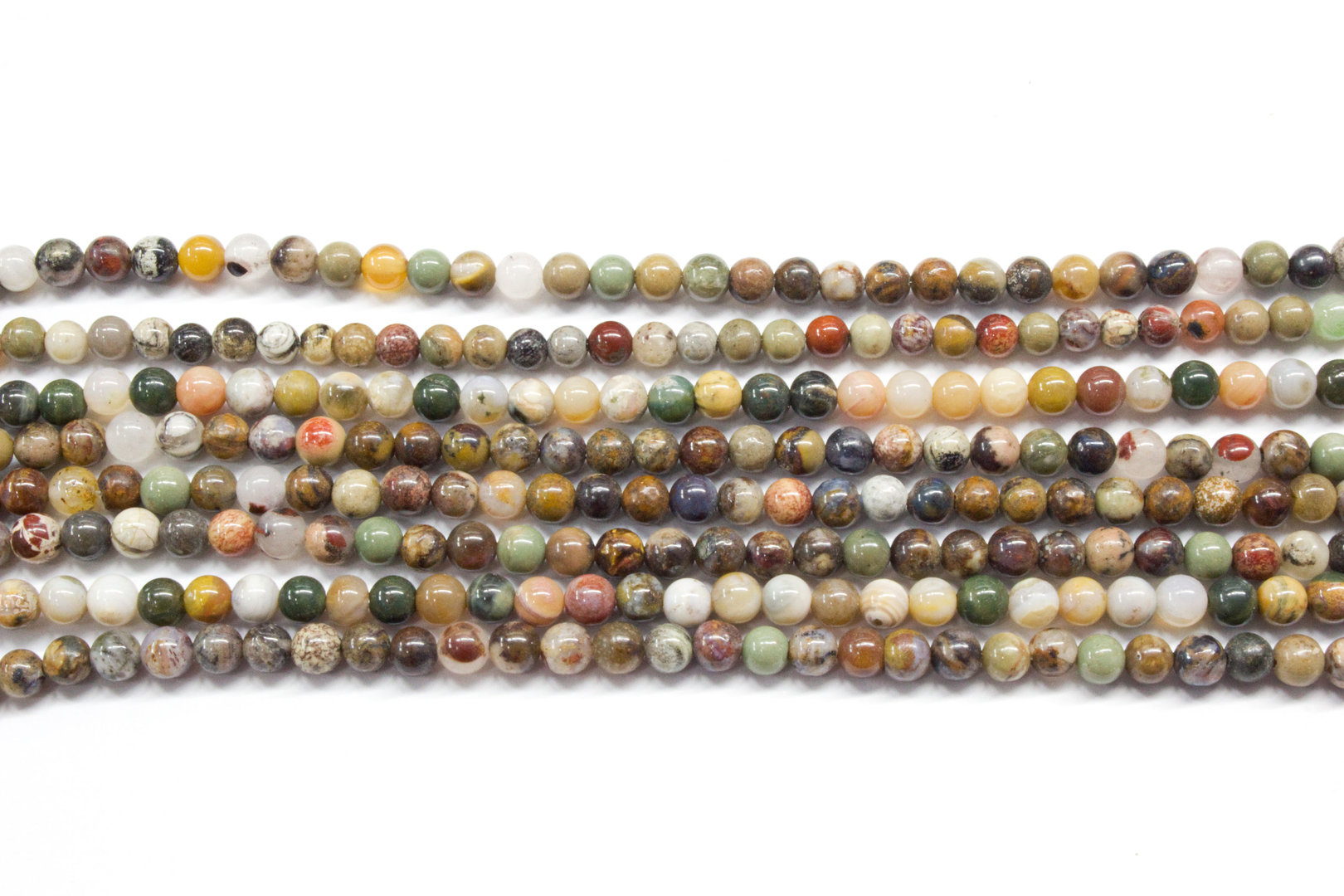 varied minerals 3mm ball beads strands