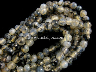 spider agate 4mm ball beads strands