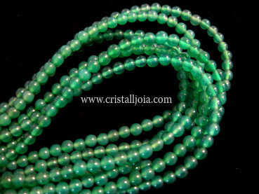 green agate 4mm ball beads strands