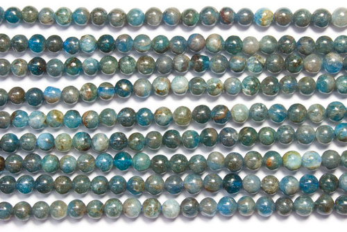 apatite 4mm ball beads strands