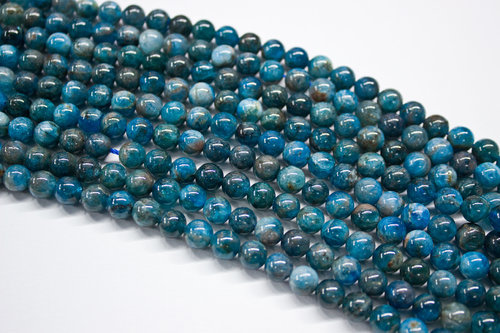 apatite 6mm ball beads strands