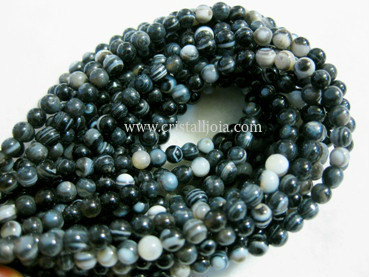 black listed agate 8mm ball beads strands