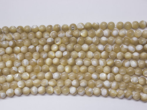 nacre brown 8mm ball beads strands