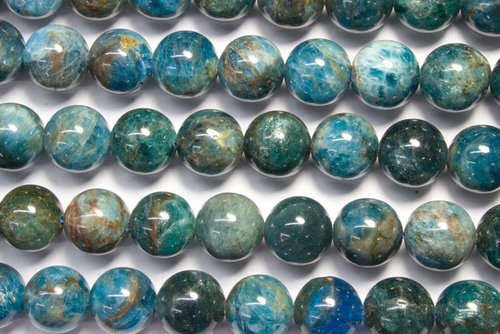 apatite 10mm ball beads strands