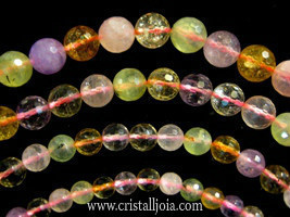 Assorted mineral beads strands