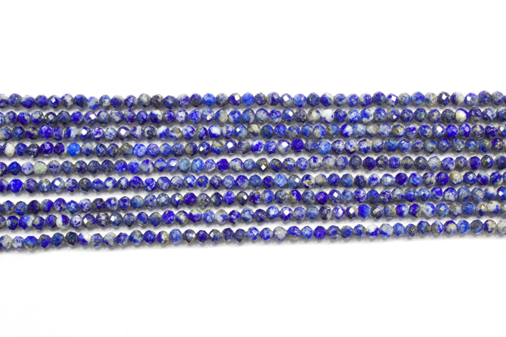 lapis lazuli 2mm faceted ball strands