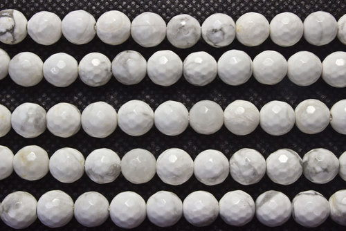 magnesite 8mm faceted ball beads strands