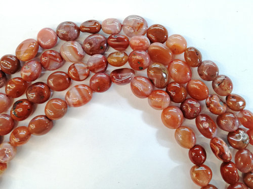 chinese carnelian 8x10mm tumbled strands
