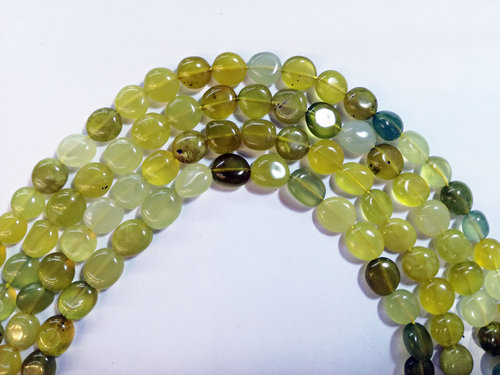 yellow jade 8x10mm tumbled strands