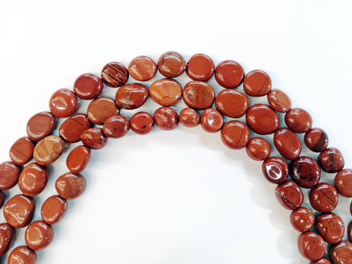 red jasper 8x10mm tumbled strands