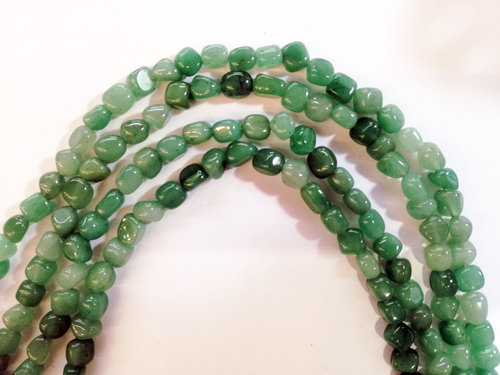 green aventurine 5x6mm tumbled strands