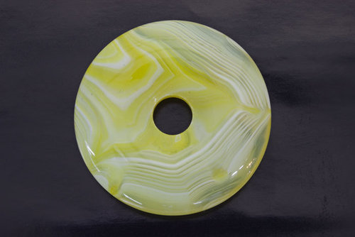 Donut Yellow Agate 40mm