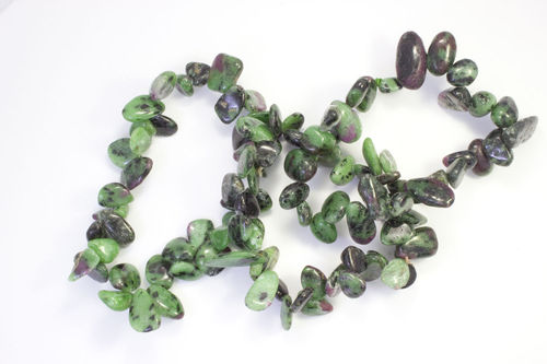 Zoisite With Ruby bracelet leaves