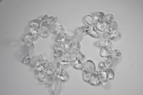 Quartz Rock Crystal bracelet leaves